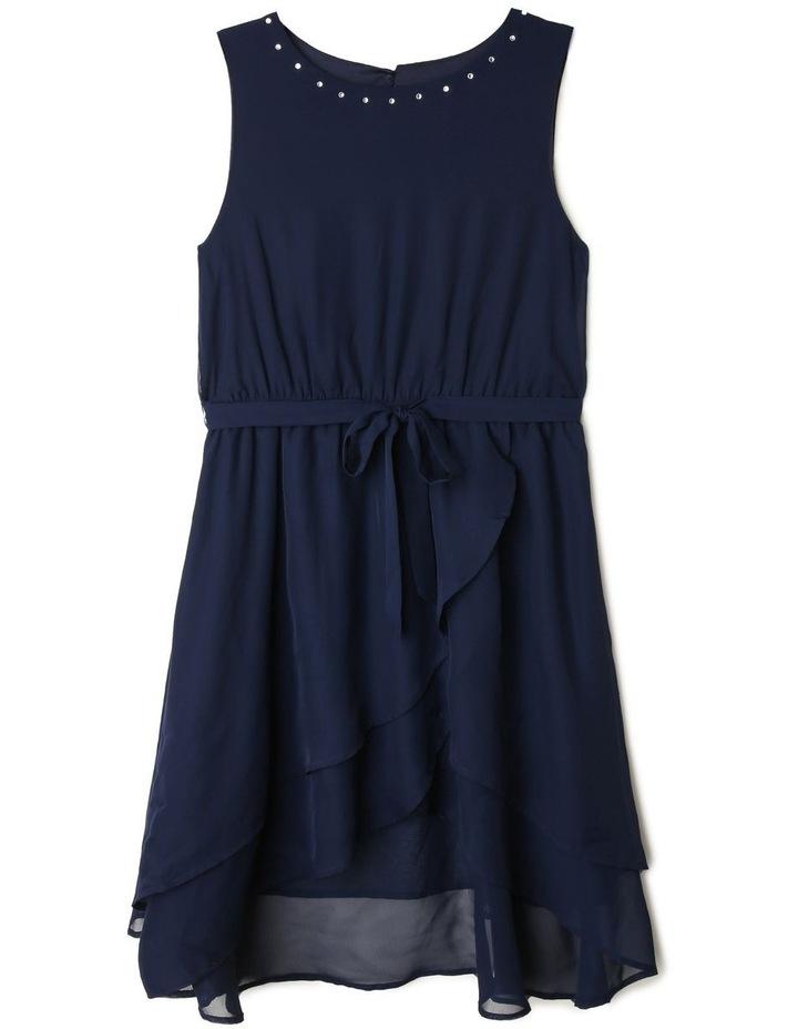 Astra Chiffon Dress With Belt (9-16 Years) image 1