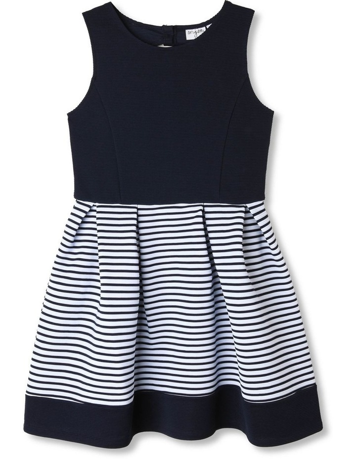 Chloe Ottoman Stripe Party Dress (9-16 Years) image 1