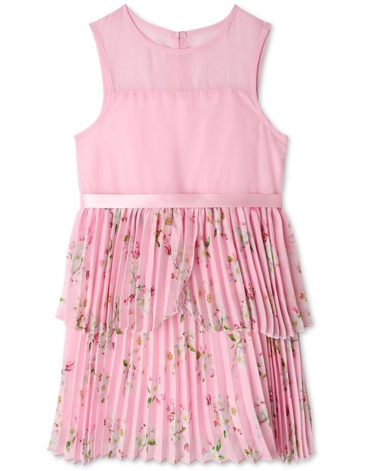 Eliza Pleated Chiffon Dress (1-8 Years) image 1