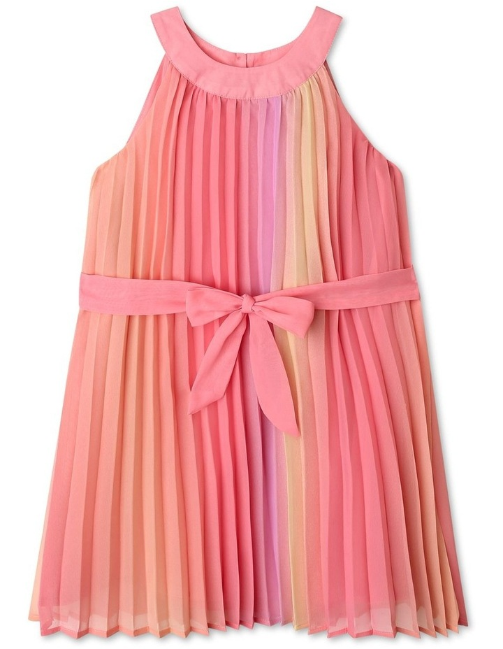 Charlie High Neck Pleat Dress (9-16 Years) image 1