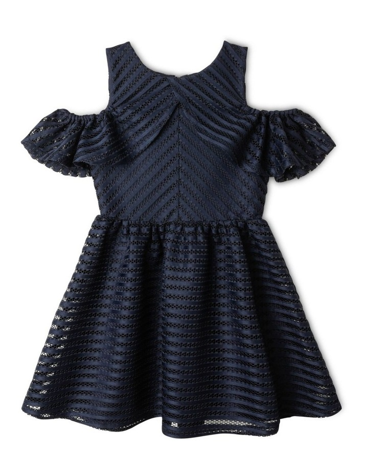 Aubery Off The Shoulder Stripe Dress (9-16 Years) image 1