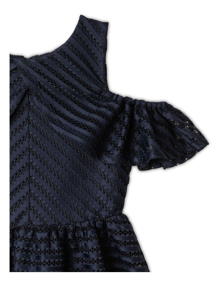 Aubery Off The Shoulder Stripe Dress (9-16 Years) image 2