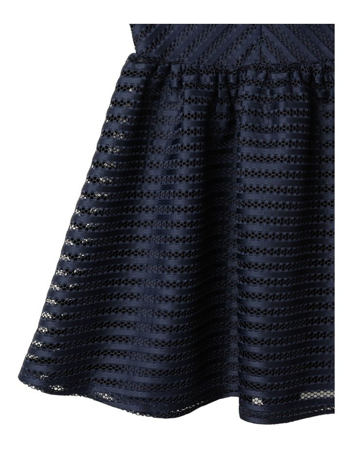 Aubery Off The Shoulder Stripe Dress (9-16 Years) image 4