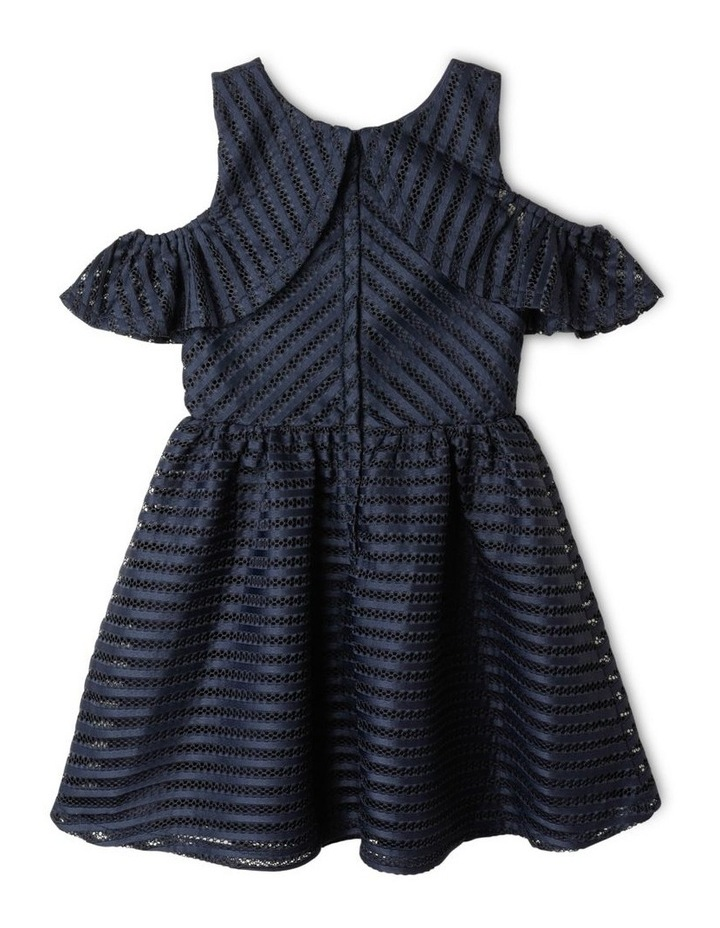Aubery Off The Shoulder Stripe Dress (9-16 Years) image 5