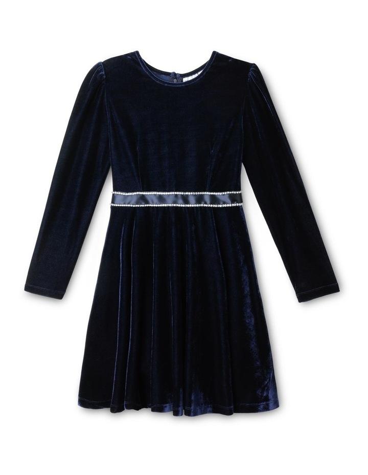 Luna Velour Dress (9-16 Years) image 1