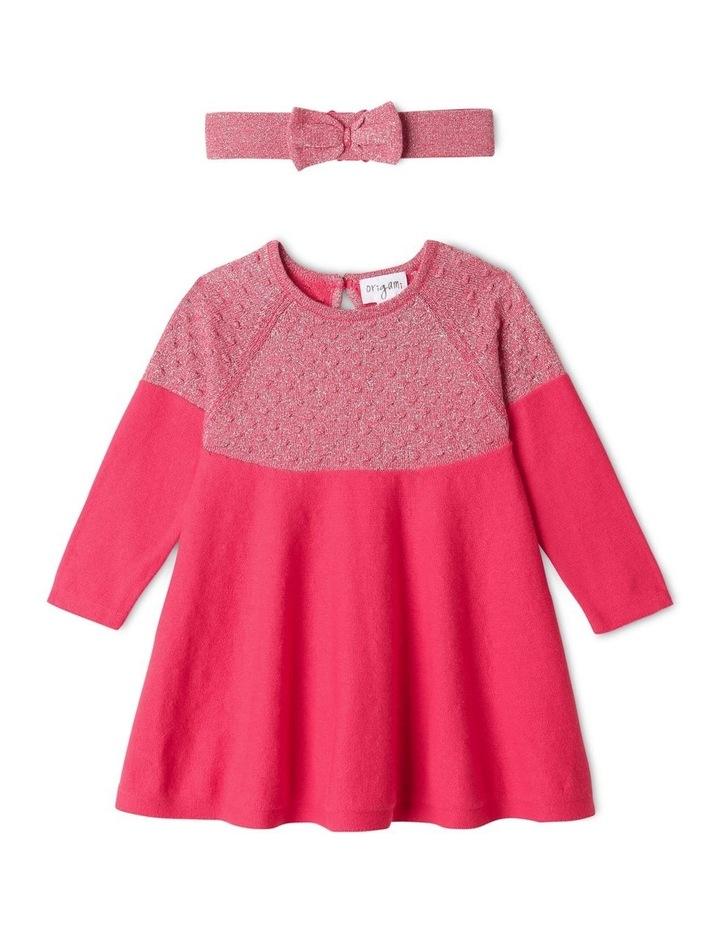 Effie Knit Dress & Headband Set Raspberry image 1