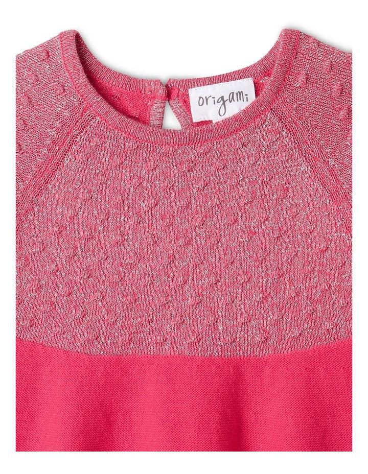 Effie Knit Dress & Headband Set Raspberry image 2