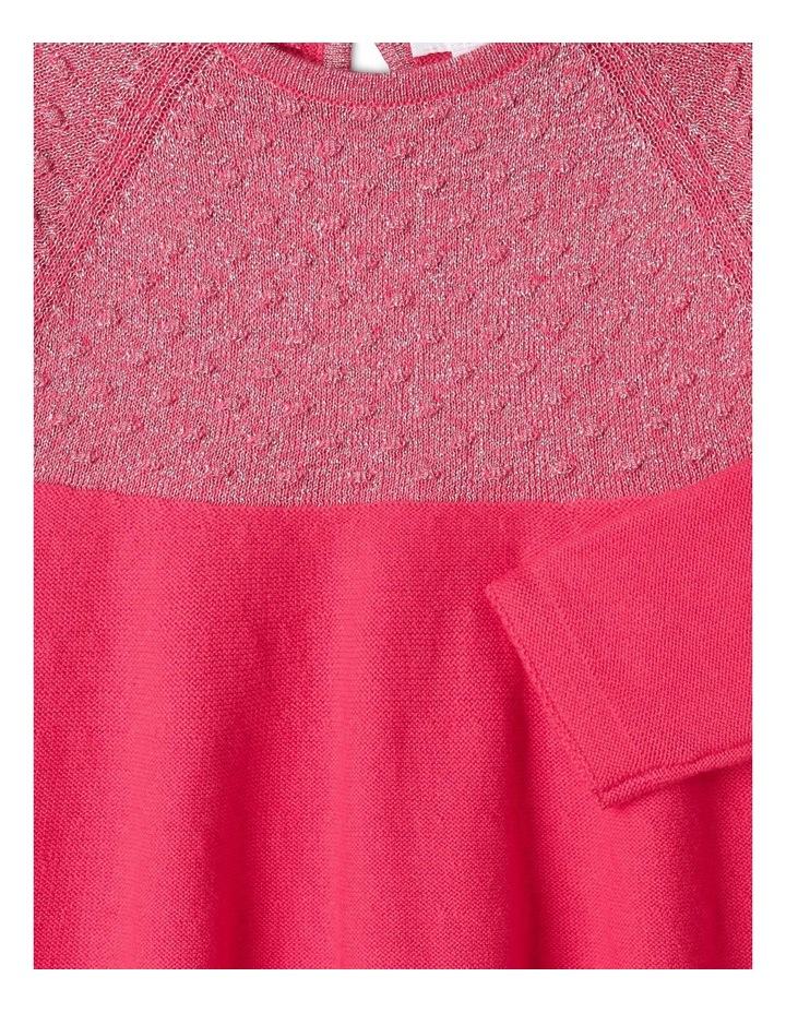 Effie Knit Dress & Headband Set Raspberry image 3