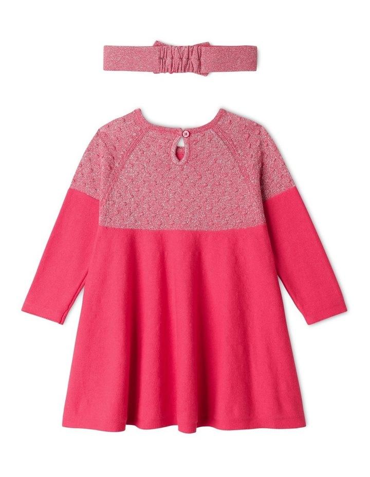 Effie Knit Dress & Headband Set Raspberry image 5