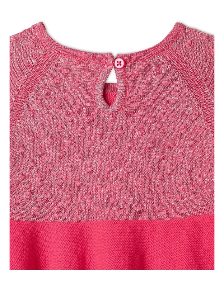 Effie Knit Dress & Headband Set Raspberry image 6