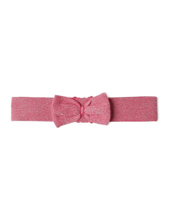 Effie Knit Dress & Headband Set Raspberry image 7