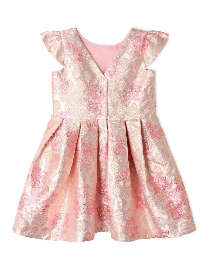 Layla Jacquard Dress Pink image 5