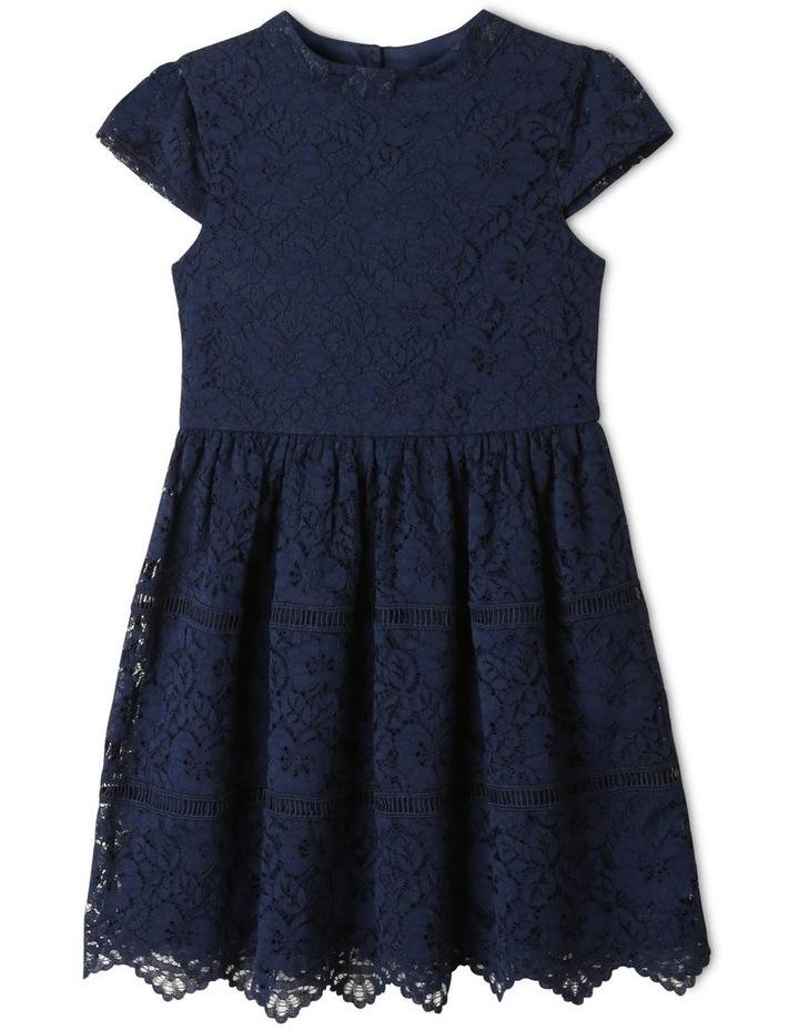 Rose Cap Sleeve Dress Natural image 1