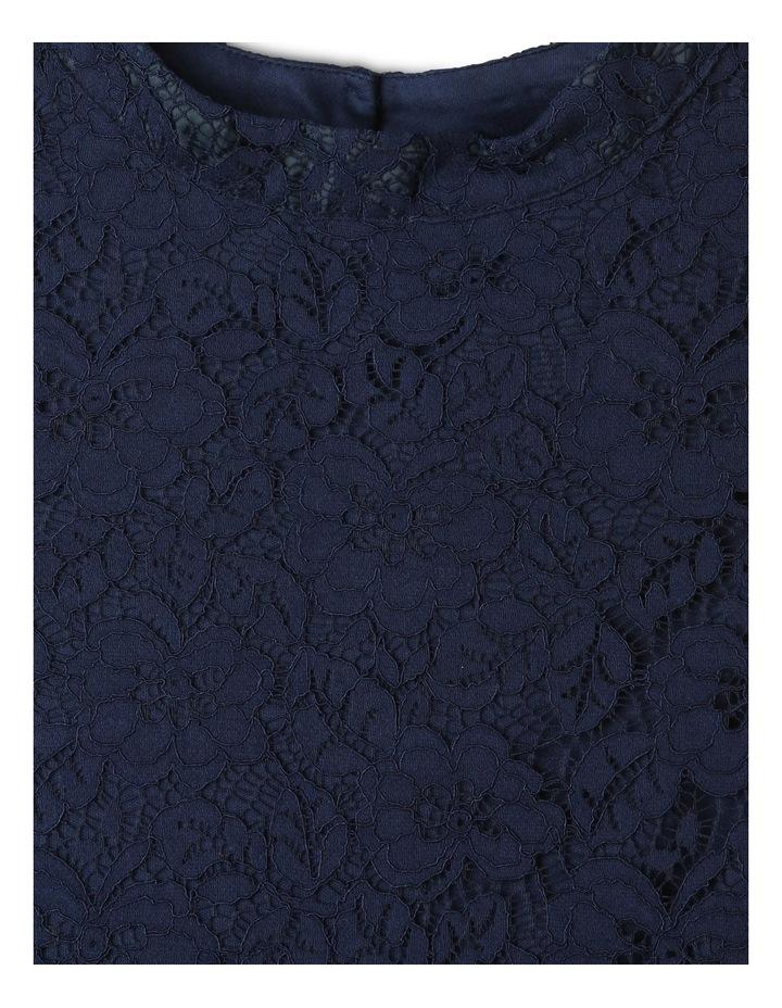 Rose Cap Sleeve Dress Natural image 3