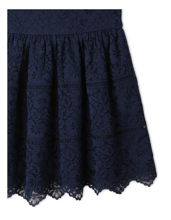 Rose Cap Sleeve Dress Natural image 4