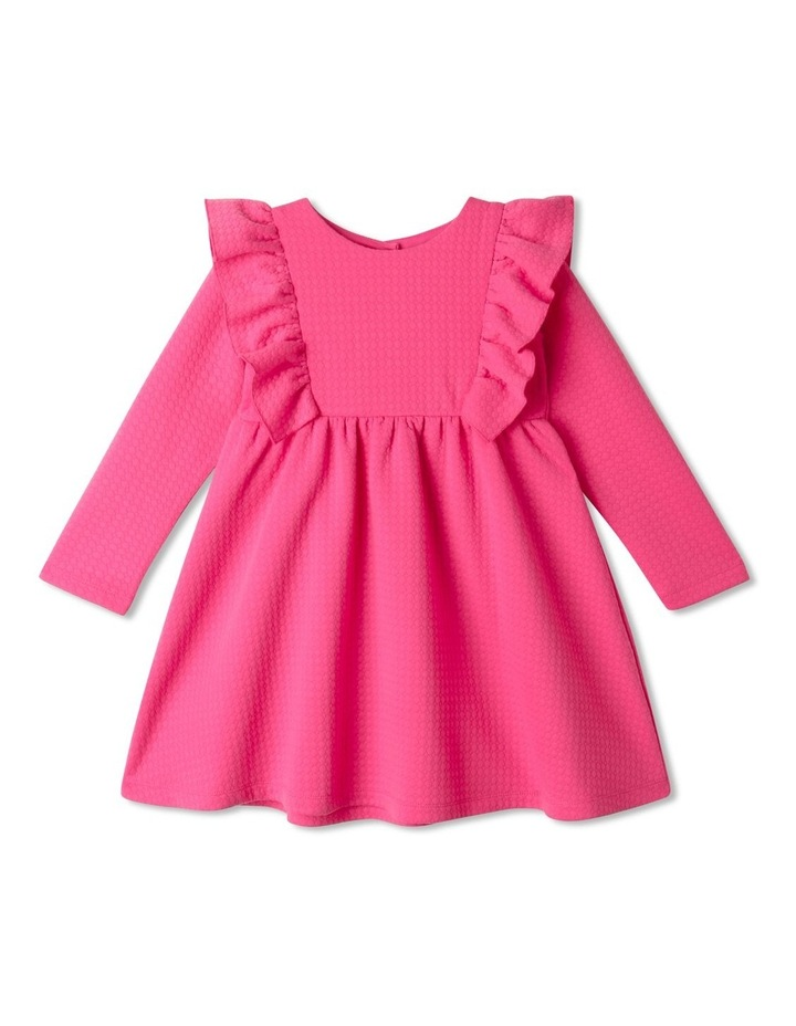 Bethany Textured Knit Dress Bright Pink image 1