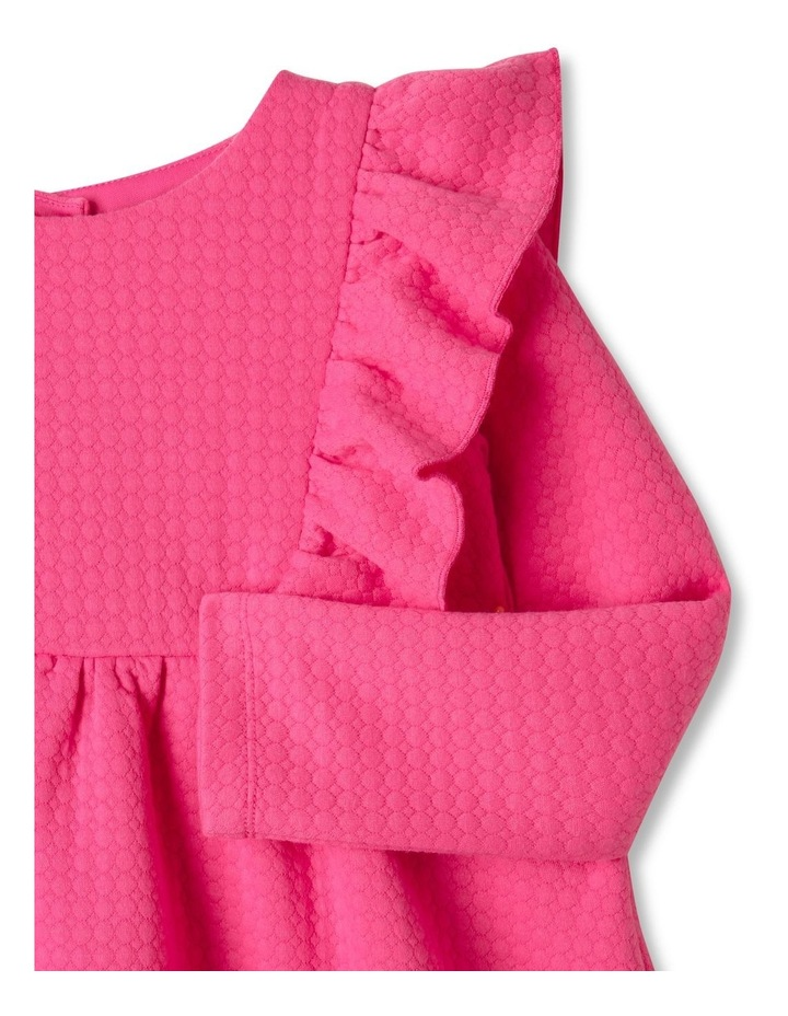 Bethany Textured Knit Dress Bright Pink image 2
