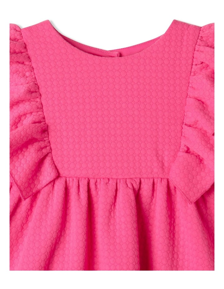 Bethany Textured Knit Dress Bright Pink image 3