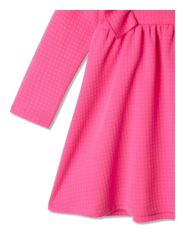 Bethany Textured Knit Dress Bright Pink image 4