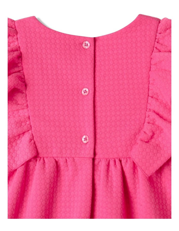 Bethany Textured Knit Dress Bright Pink image 6