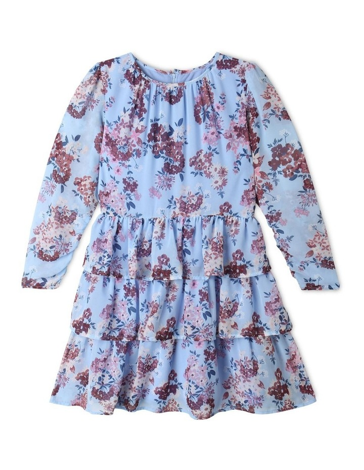 Sophie Chiffon Tiered Skirt Dress Light Blue image 1