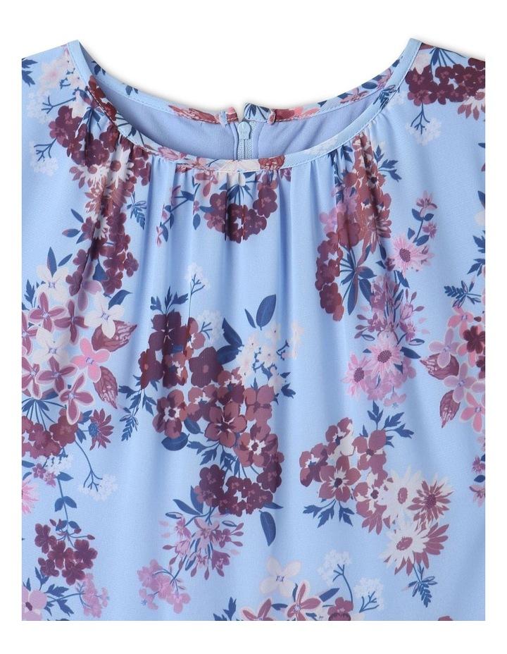 Sophie Chiffon Tiered Skirt Dress Light Blue image 2