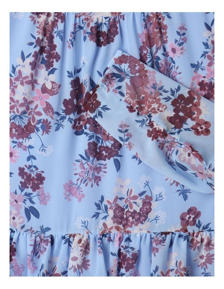 Sophie Chiffon Tiered Skirt Dress Light Blue image 3