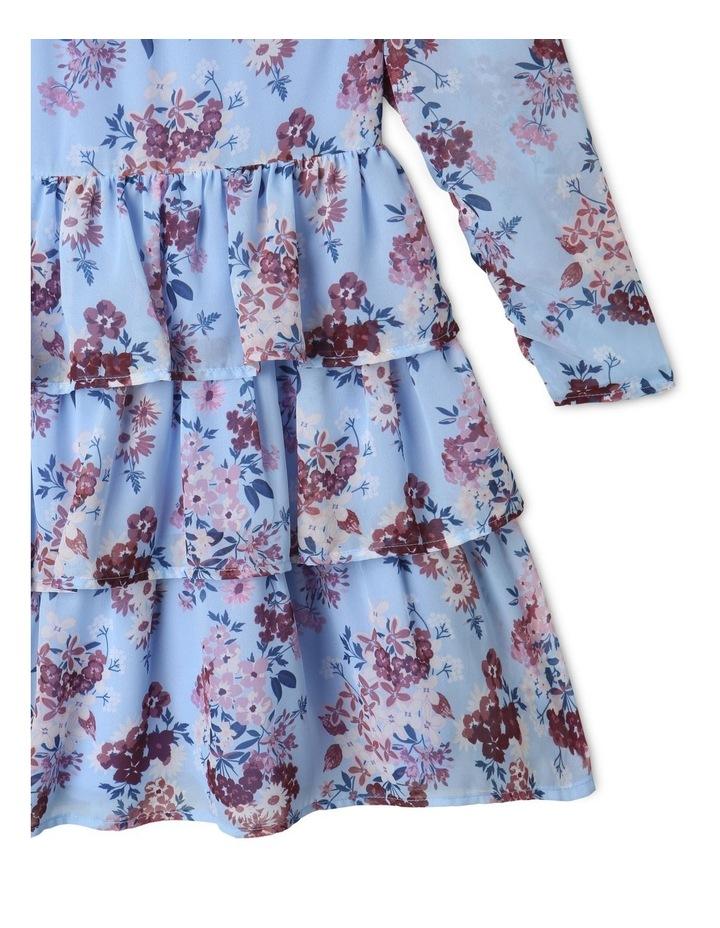 Sophie Chiffon Tiered Skirt Dress Light Blue image 4