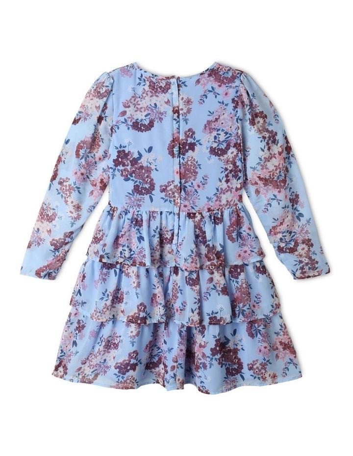 Sophie Chiffon Tiered Skirt Dress Light Blue image 5