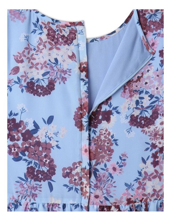 Sophie Chiffon Tiered Skirt Dress Light Blue image 7