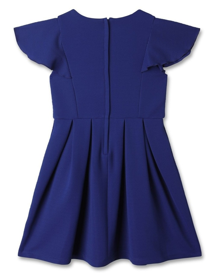 Monique Flutter Sleeve Dress Cobalt image 5