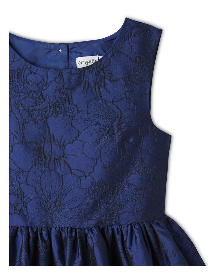 Georgia Woven Floral Dress Blue image 2