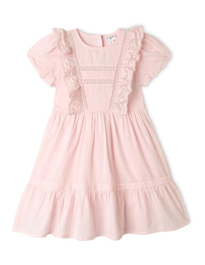 Emma Woven Bubble Sleeve Dress Light Pink image 1