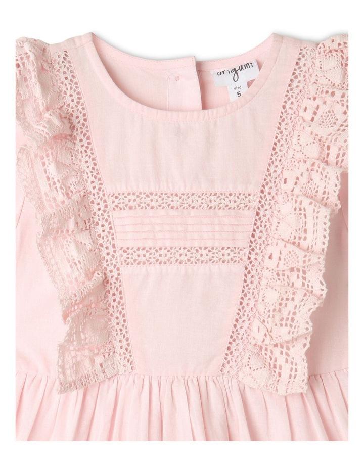 Emma Woven Bubble Sleeve Dress Light Pink image 2