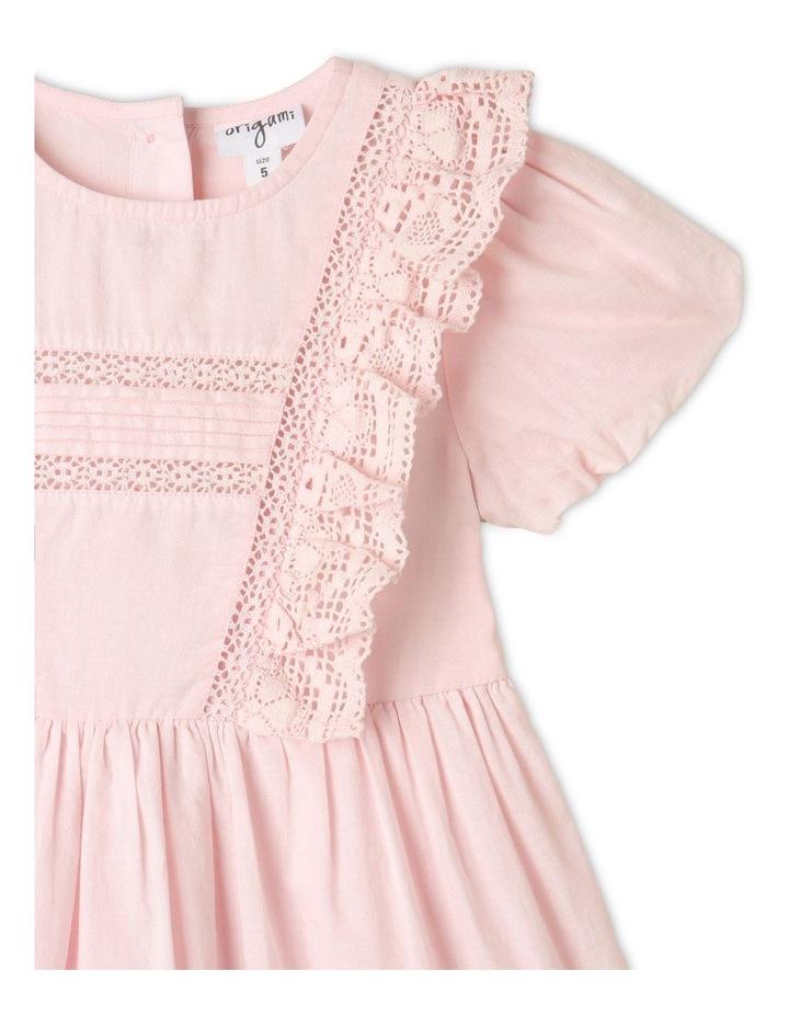 Emma Woven Bubble Sleeve Dress Light Pink image 3