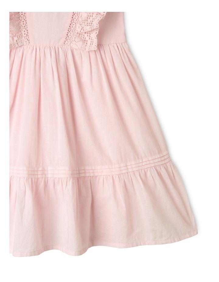 Emma Woven Bubble Sleeve Dress Light Pink image 4