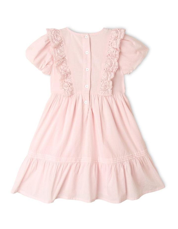 Emma Woven Bubble Sleeve Dress Light Pink image 5
