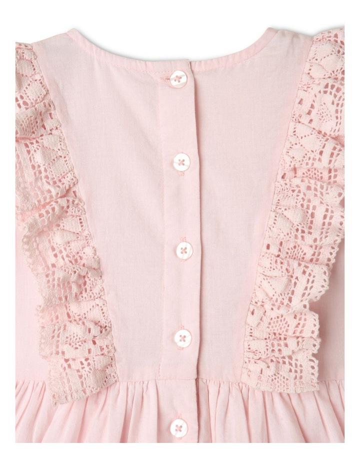 Emma Woven Bubble Sleeve Dress Light Pink image 6