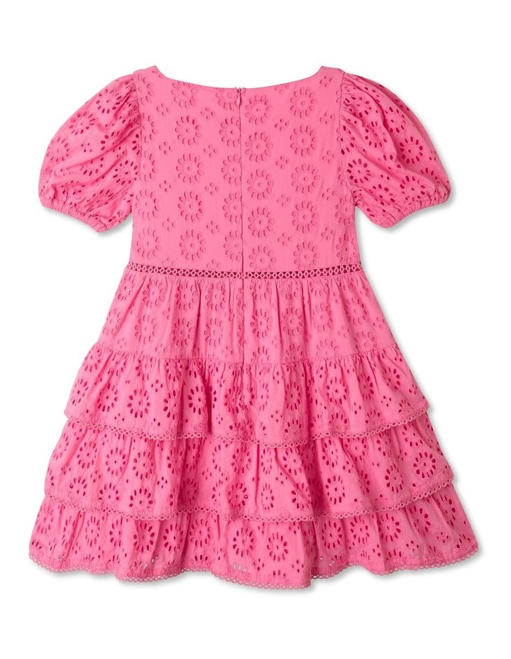 Jessica Woven Broderie Puff Sleeve Dress (Size 1-8) image 5
