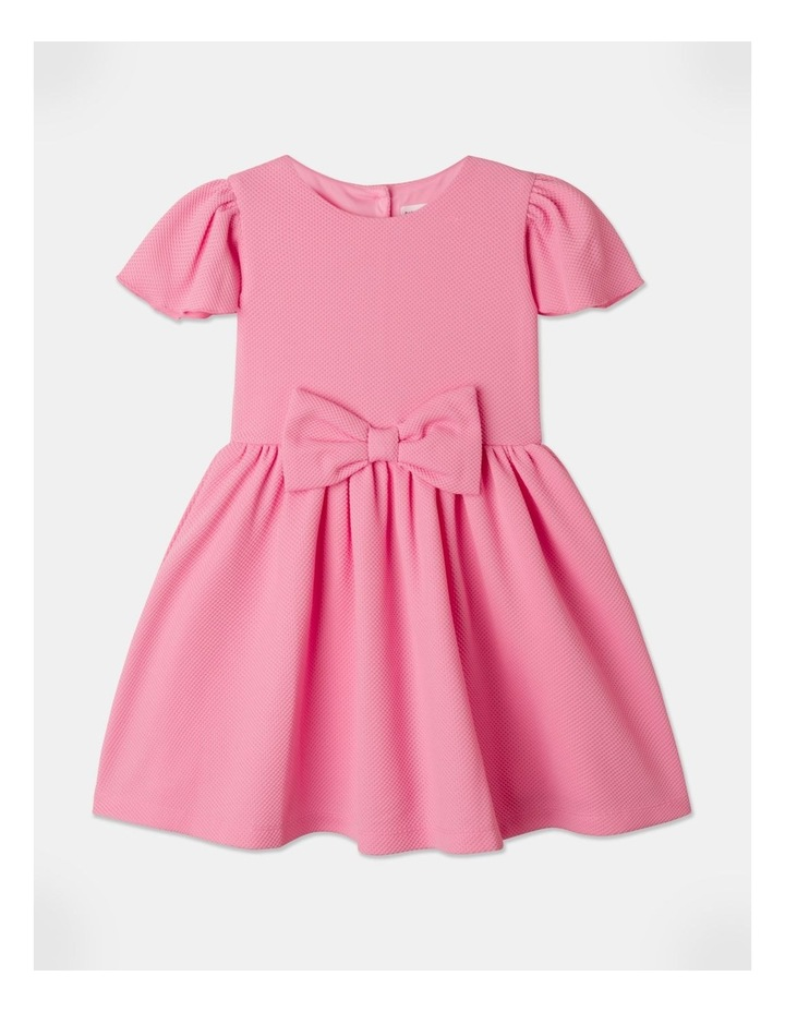 Lucy Knit Diamontes Dress Bright Pink image 1