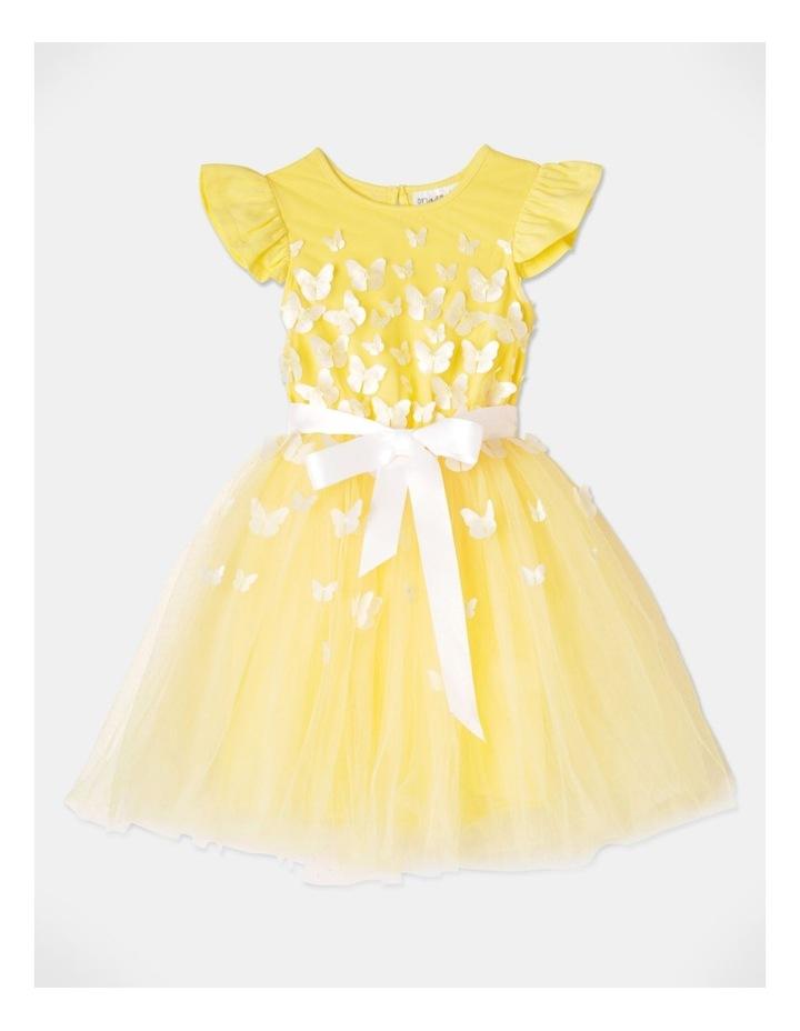 Isabelle Flutter Sleeve Tutu Dress Yellow image 1
