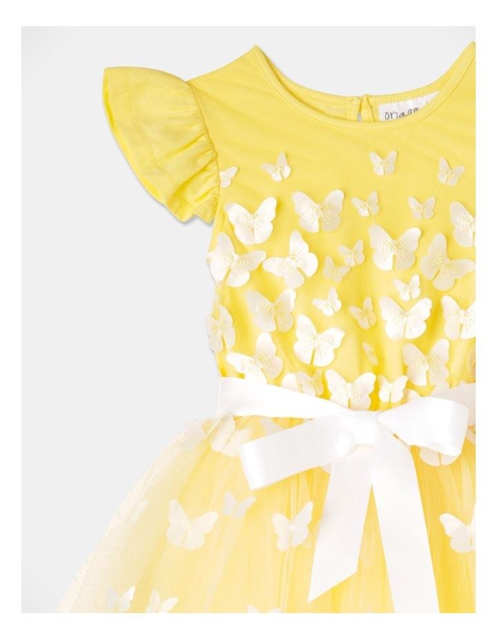 Isabelle Flutter Sleeve Tutu Dress Yellow image 2