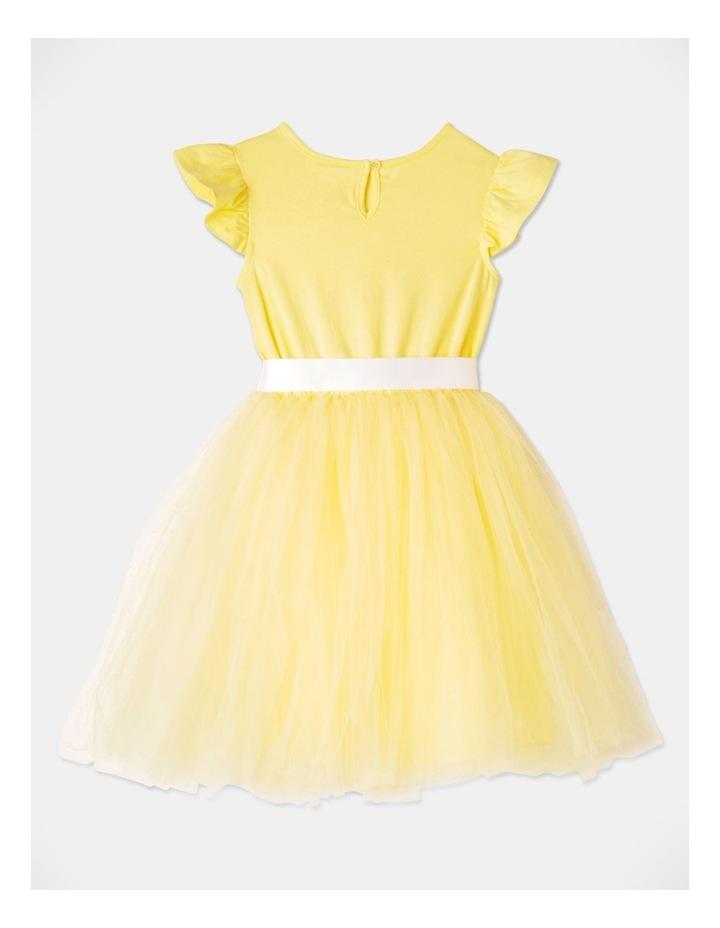 Isabelle Flutter Sleeve Tutu Dress Yellow image 3