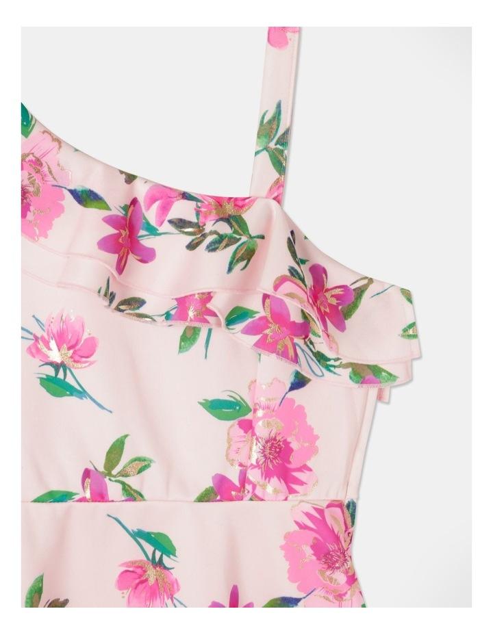Eve One Shoulder Frill Dress Light Pink image 3