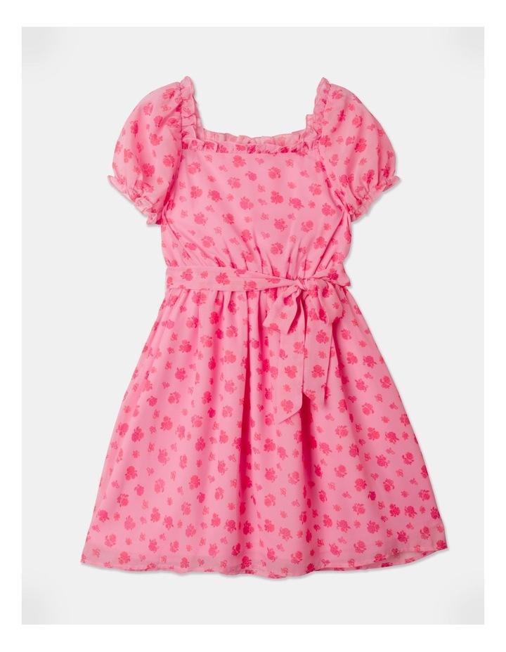 Sara Rouched Sleeve Dress Pink image 1