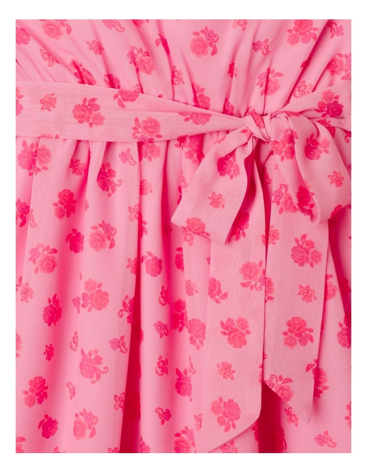 Sara Rouched Sleeve Dress Pink image 2