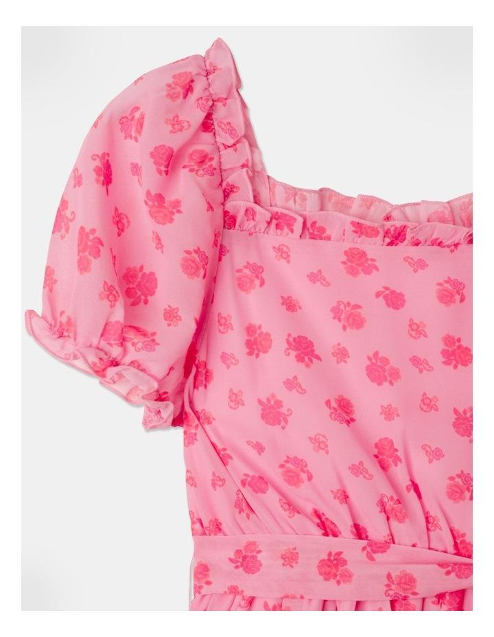 Sara Rouched Sleeve Dress Pink image 3