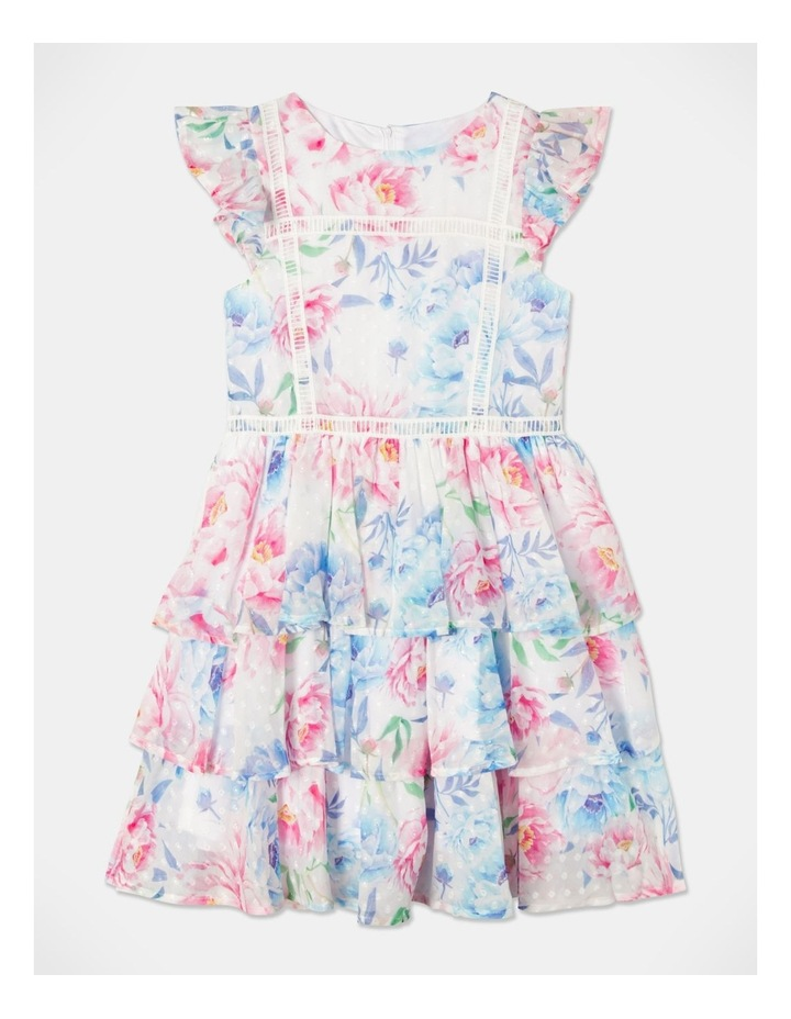 Jade Woven Dobby Tiered Dress (size 9-16) image 1