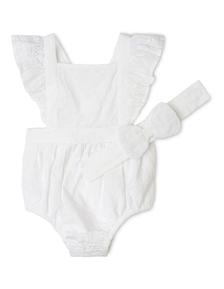 Anna Broderie Bodysuit in White image 1