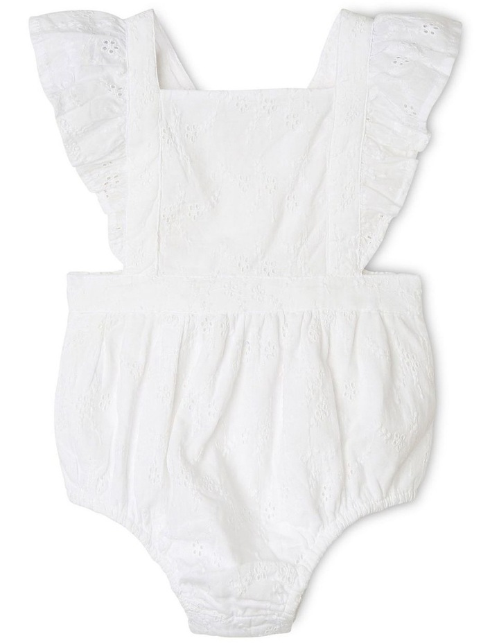 Anna Broderie Bodysuit in White image 2